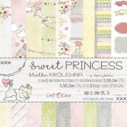 Mały bloczek papierów do tworzenia kartek i scrapbookingu - Craft O Clock - Sweet princess