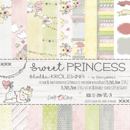 Pad of scrapbooking papers - Craft O Clock - Sweet princess