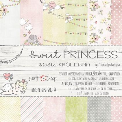Pad of scrapbooking papers 20x20- Craft O Clock - Sweet princess
