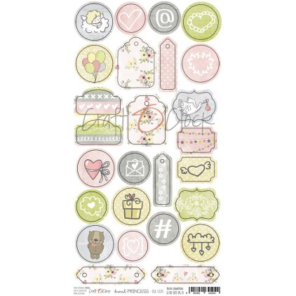 Die-cuts set - Sweet princess - Craft O Clock