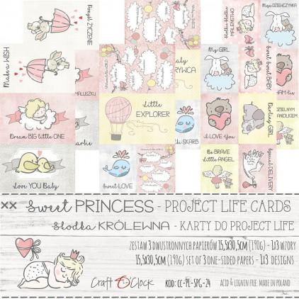 Set of cards Project Life - Craft O Clock - Sweet princess