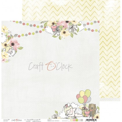 Papier do tworzenia kartek i scrapbookingu - Craft O Clock - Sweet princess 01