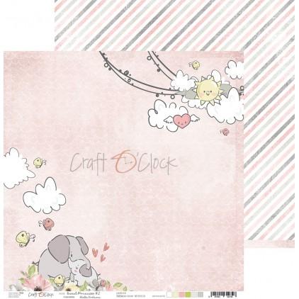 Scrapbooking paper - Craft O Clock - Sweet pincess 02