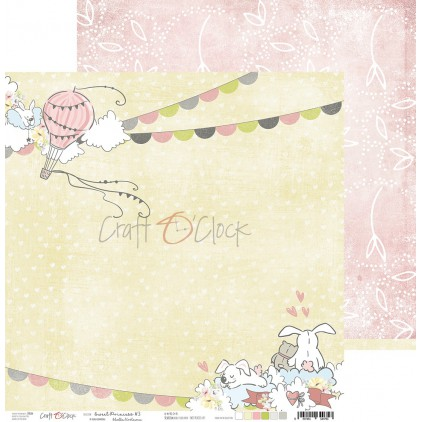 Papier do tworzenia kartek i scrapbookingu  - Craft O Clock - Sweet pincess 03