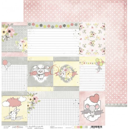 Papier do tworzenia kartek i scrapbookingu - Craft O Clock - Sweet pincess 06