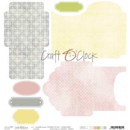 Scrapbooking paper - Craft O Clock - Sweet pincess -  Extras envelopes