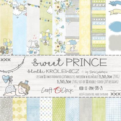 Mały bloczek papierów do tworzenia kartek i scrapbookingu - Craft O Clock - Sweet prince