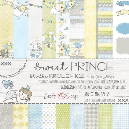Pad of scrapbooking papers - Craft O Clock - Sweet prince