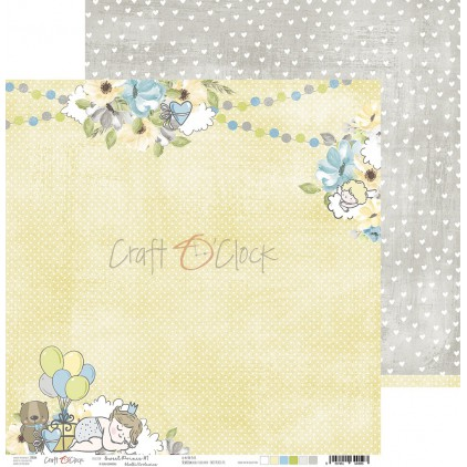 Papier do tworzenia kartek i scrapbookingu  - Craft O Clock - Sweet pince 01