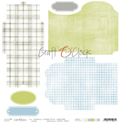 Scrapbooking paper - Craft O Clock - Sweet pince  Extras envelopes