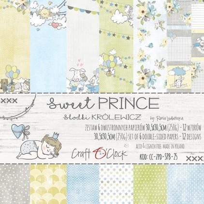 Zestaw papierów do tworzenia kartek i scrapbookingu - Craft O Clock - Sweet prince