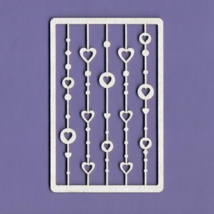 Tekturka -Crafty Moly - Serduszka na sznurku 1 - małe - G4