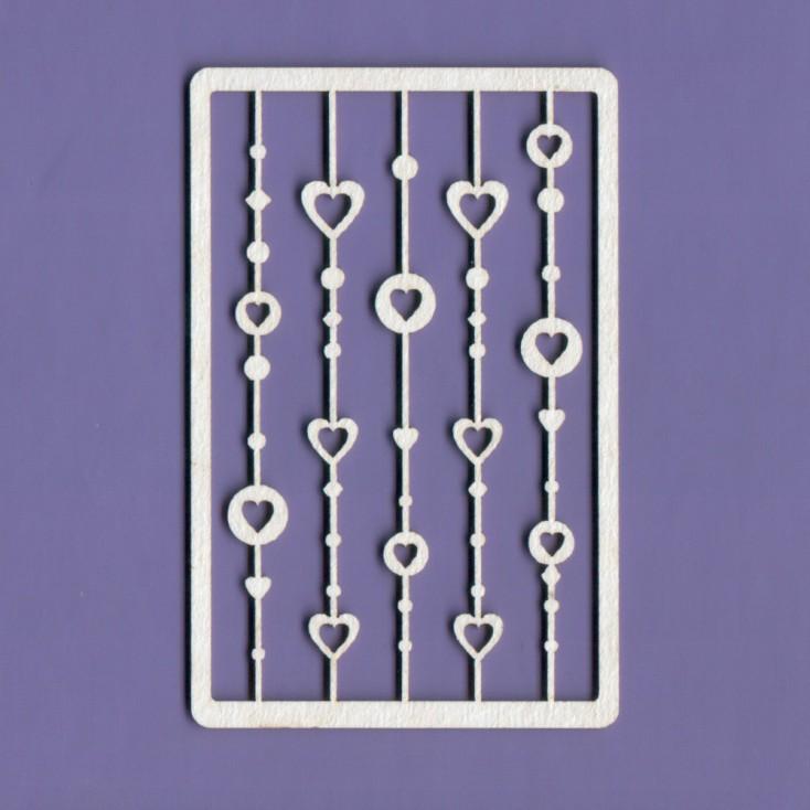 Cardboard element - Crafty Moly - hearts on a string - G4