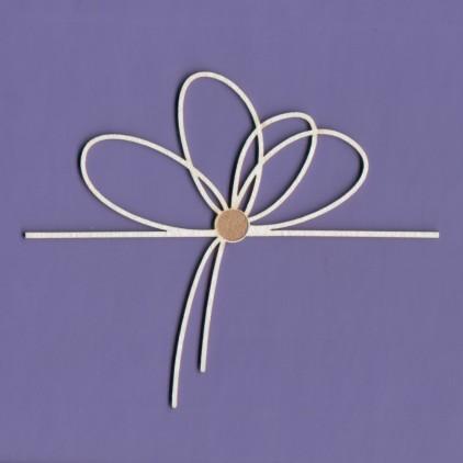 Tekturka -Crafty Moly - Sznurowany kwiatek 2- G4