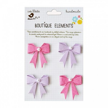 Set of stickers CR48270 - Little Birdie - Pearl Bows Mulberry Blush - 4 pcs.