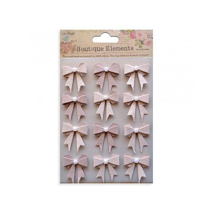 Set of stickers CR34257 - Little Birdie - Pearl Bows Bisque- 12 pcs.