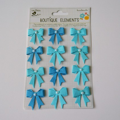 Set of stickers CR34249- Little Birdie - Pearl Bows Ocean Spray -12 pcs.