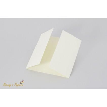 Base for  card with a double slat - 14 x 14 - cream  - Rzeczy z Papieru