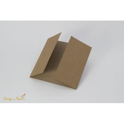 Baza do kartki z podwójną listewką - kraft -  14x14- Rzeczy z Papieru