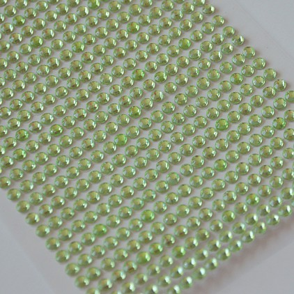 Selfadhesive decorations - crystals 4mm - light green