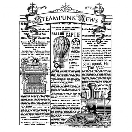 Set of clear stamps - Stamperia - Stempunk news - 1 pc.