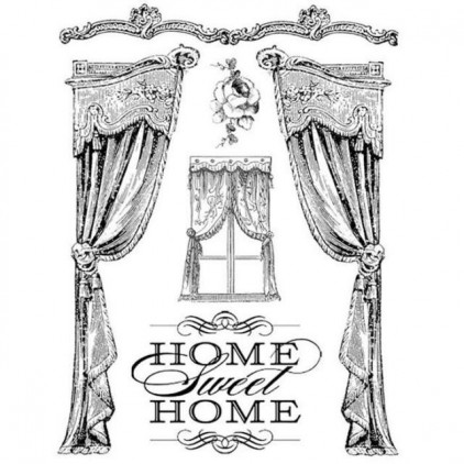 Set of clear stamps - Stamperia - Home sweet home - WTKCC20