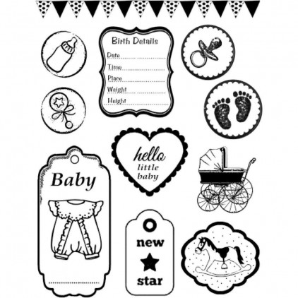 Set of clear stamps - Stamperia -  Baby - WTKCC23