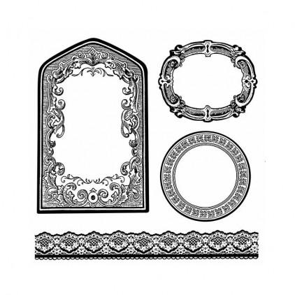 Stemple / pieczątki kauczukowe - Stamperia - Frames & Borders - WTKCC156