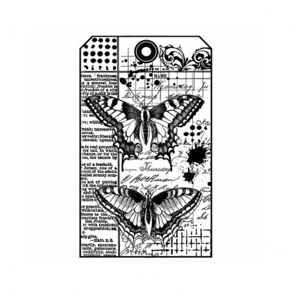 Stemple / pieczątki kauczukowe - Stamperia - Butterfly - WTKCC145
