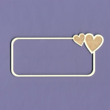 Tekturka - Crafty Moly - Ramka Ramka Simple Love prostokąt - G4