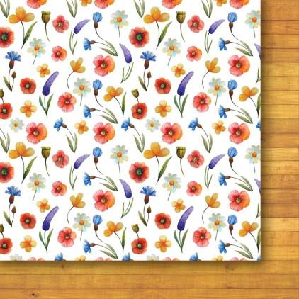 Papier do tworzenia kartek i scrapbookingu - Galeria Papieru - Bezkresne łąki 01