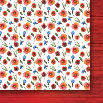 Papier do tworzenia kartek i scrapbookingu - Galeria Papieru - Bezkresne łąki 02