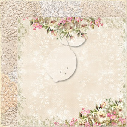Double sided scrapbooking paper - Lemoncraft House of roses 08