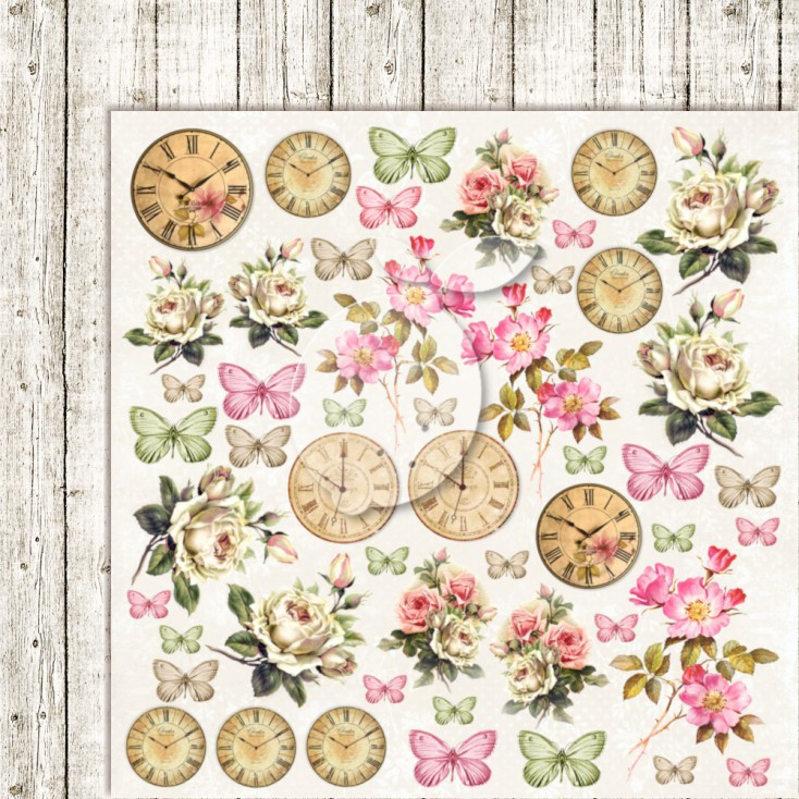 Double sided scrapbooking paper - Lemoncraft House of roses EXTRA 06