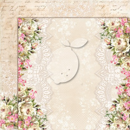 Double sided scrapbooking paper - Lemoncraft House of roses EXTRA 05