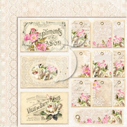 Double sided scrapbooking paper - Lemoncraft House of roses EXTRA 04
