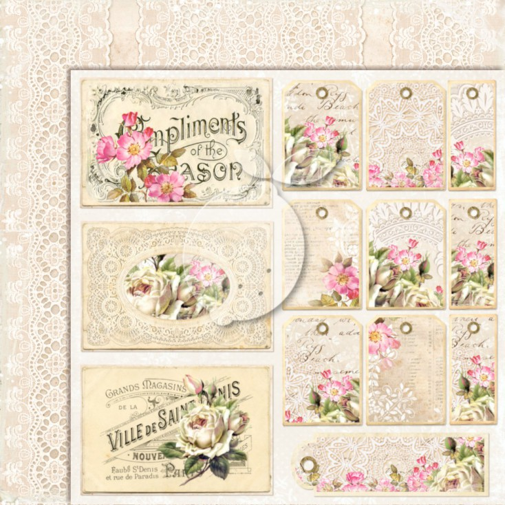 Dwustronny papier do scrapbookingu - Lemoncraft Dom róż EXTRA - 04