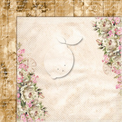 Dwustronny papier do scrapbookingu - Lemoncraft Dom róż EXTRA - 03