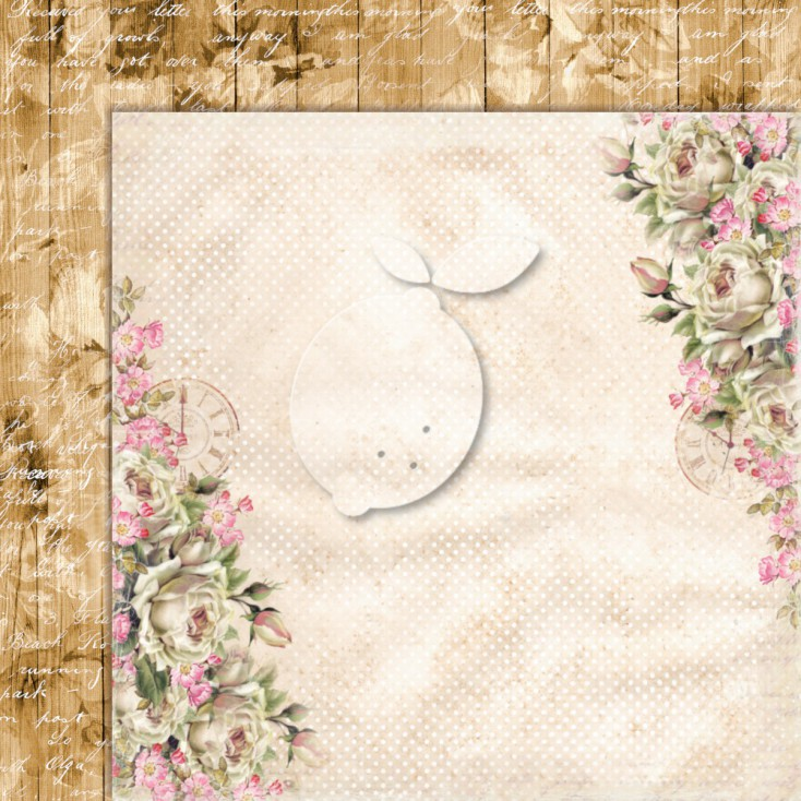 Double sided scrapbooking paper - Lemoncraft House of roses EXTRA 03
