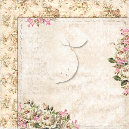 Double sided scrapbooking paper - Lemoncraft House of roses EXTRA 01