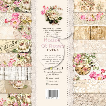 Set of scrapbooking papers - Lemoncraft House of roses - EXTRA