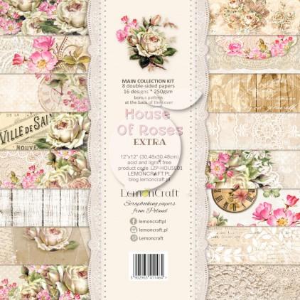 Zestaw papierów do scrapbookingu - Lemoncraft Dom róż - EXTRA