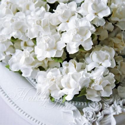 White rose paper flower set - mix 1 - 50 pcs