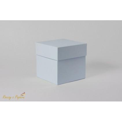Pudełko exploding box 10x10x10 błękitne - Rzeczy z Papieru