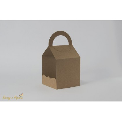 Torebka na exploding box 10,7x10,7 kraft - Rzeczy z Papieru