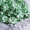 Scrap mint paper roses set - 50 pcs