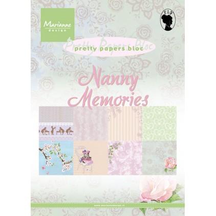 Marianne Design - Mały bloczek papierów do scrapbookingu - Nanny Memories