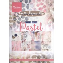 Pad of scrapbooking papers - Marianne Design - Mixed media Pastel