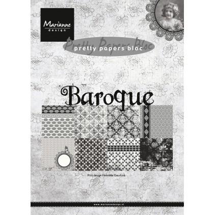 Mały bloczek papierów do scrapbookingu - Marianne Design - Baroque