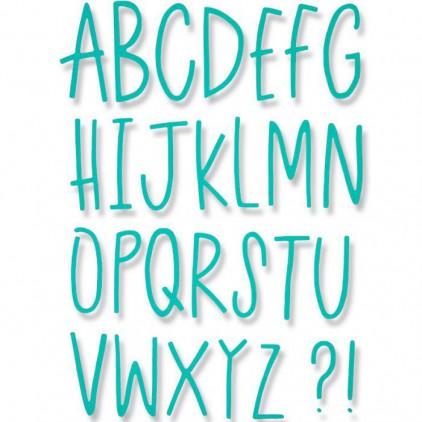 Wykrojnik do wycinania - Sizzix Thinlits 661040 - Delicate Letters